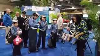 Sea Scouts visit the East Caribbean Village - Toronto Boat Show 2015