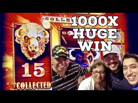15 Golden Buffalo Collected HUGE 1000X Win on Family Spin Night  & BIG Buffalo Stampede Bonus