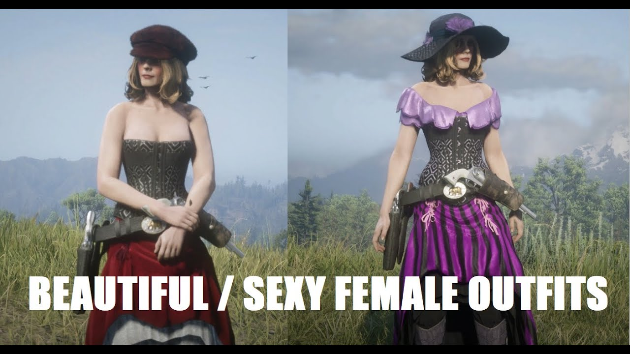 Red Dead Online Beautiful Sexy Female Outfits Limited Time Clothing Cowgirl Outfits Youtube