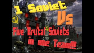 Red Alert 3 Skirmish - 1 Soviet VS 5 Brutal Soviets A-BBBBB
