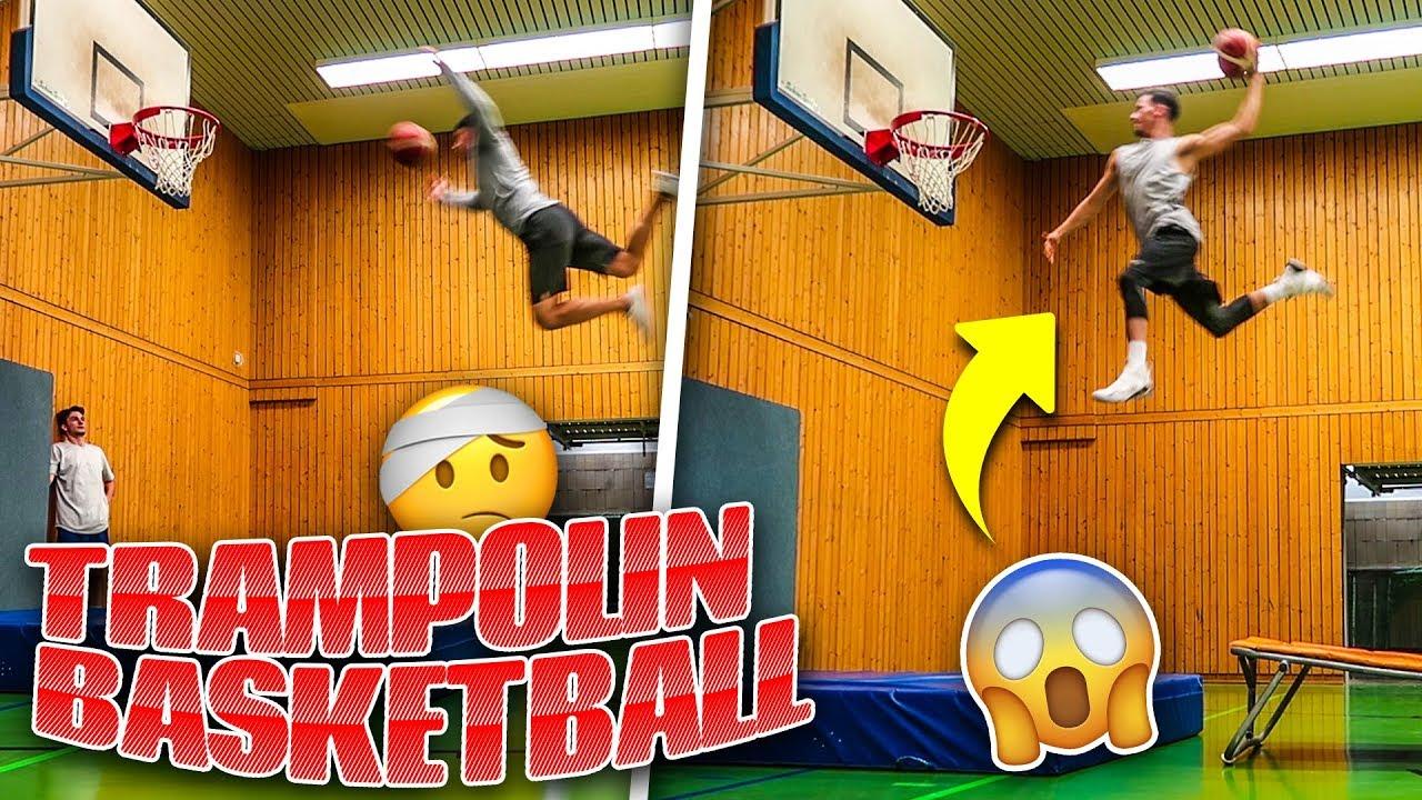 TRAMPOLIN BASKETBALL DUNK CHALLENGE!!