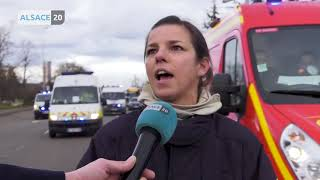 Les sapeurs-pompiers ont fait entendre leur colère ce matin à Strasbourg