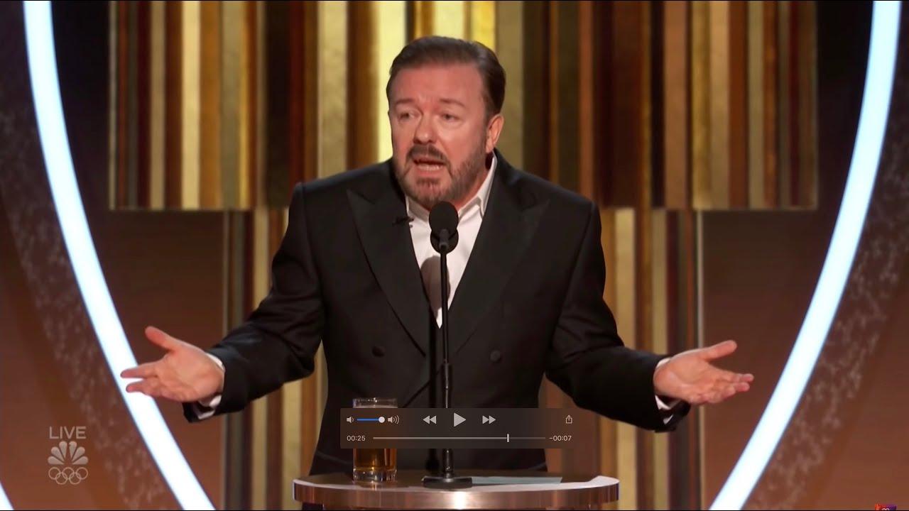 Ricky Gervais Jeffrey Epstein Joke Golden Globes 2020