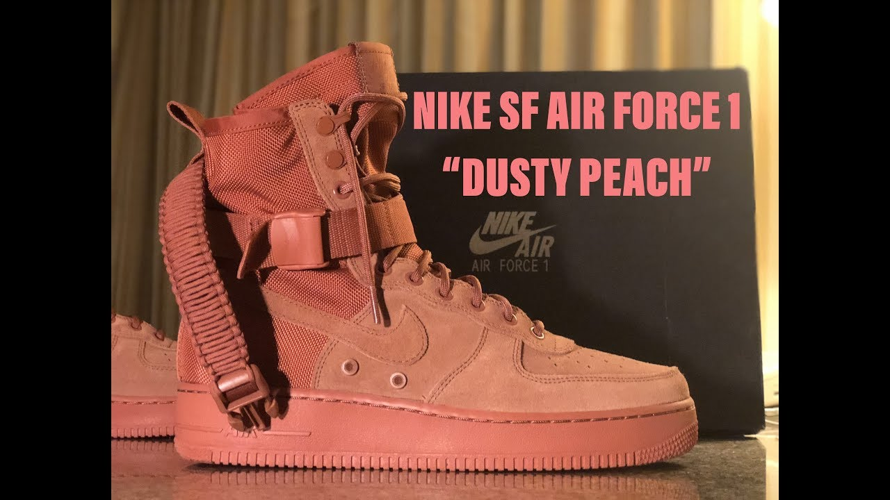 """check out 9ad96 f7970 NIKE SF-AF 1 """"DUSTY PEACH""""   BEST UNBOXING + ON FOOT (Click the link in  DESCRIPTION)"""