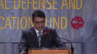Debo Adegbile presents Justice in Action Award to Neal Katyal