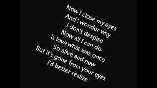 Billy Idol  - Eyes Without a Face (lyrics)