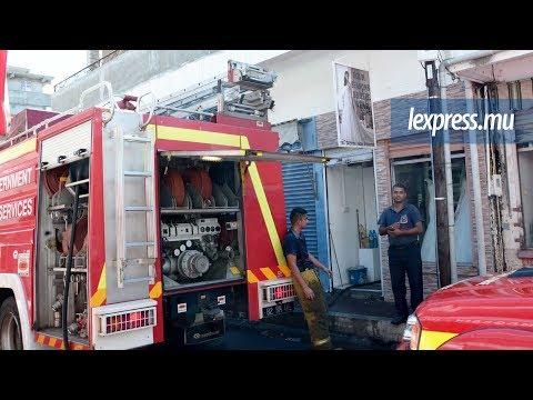 Port-Louis: incendie dans un magasin de prêt-à-porter à la rue Pagoda