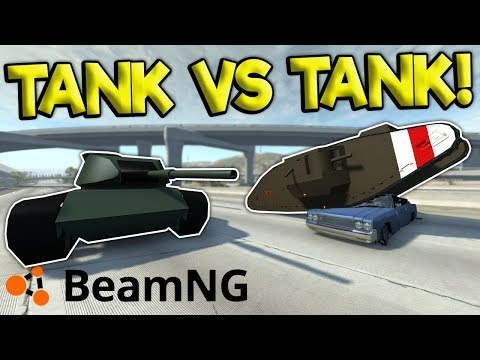 TANK VS TANK DESTRUCTION & POLICE CHASES! - BeamNG Gameplay & Crashes - Cop Chases & Crashes