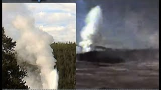 Last Blast 7 PM Old Faithful +2015  Giant + Oblong Geyser! Must See!