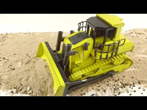 Amazing Cardboard Bulldozer - How to make a Remote Control Bulldozer