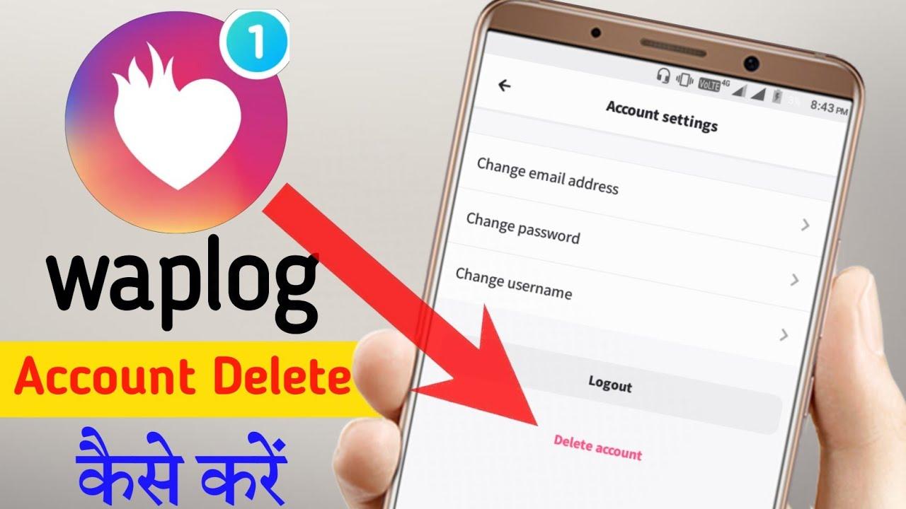 waplog account delete kaise kare || waplog app me account