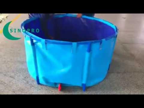 CQSINOPRO Flexible Fish Farming Tank Assembly video
