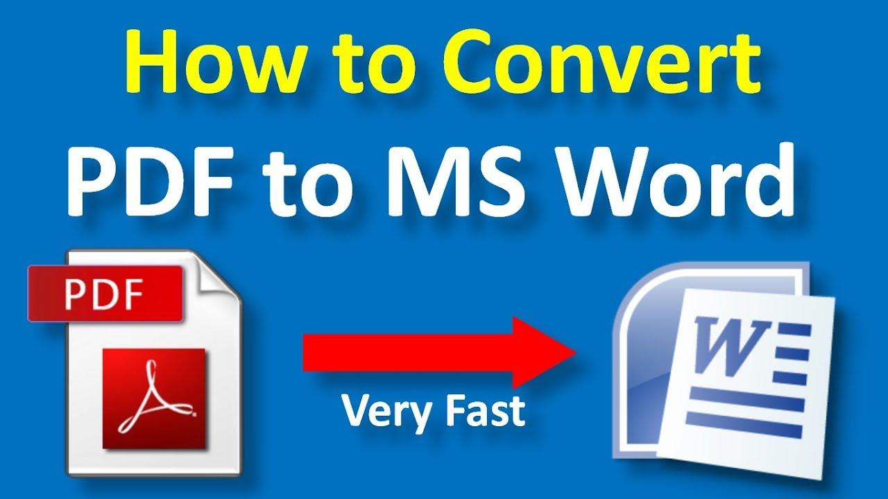 Convert Pdf To Microsoft Office Word