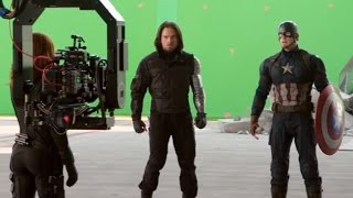 Captain America: Civil War Movie: Behind the Scenes Broll - Scarlett Johansson, Chris Evans (HD)