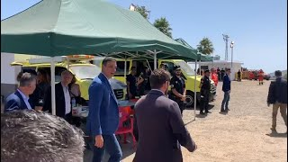 Sánchez visita la zona afectada por el incendio en Canarias