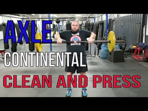 How to Clean and Press an Axle: Strongman Technique