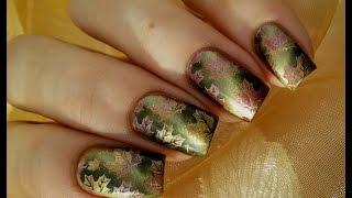 Осенний маникюр/ градиентный стемпинг  / Autumn manicure / gradient stamping