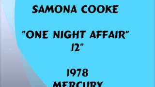 "Samona Cooke - One Night Affair [12""] - 1978"