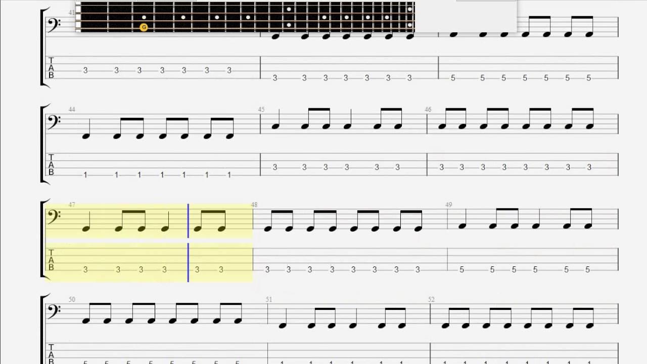 Blink 182 Dammit Bass Guitar Tablature Youtube