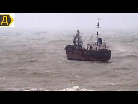 Полное видео крушения и спасательной операции на танкере Delfi