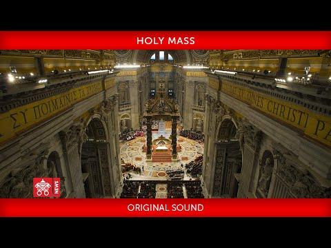 29 November 2020, Holy Mass, Pope Francis