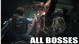 Resident Evil Revelations - All Bosses (With Cutscenes) HD