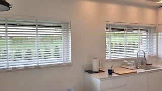 Żaluzje Drewniane białe 50mm
