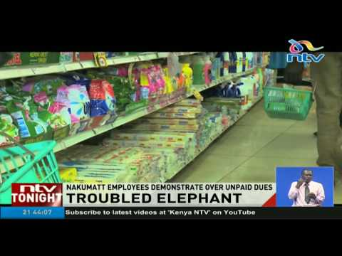 Nakumatt employees demonstrate over unpaid dues