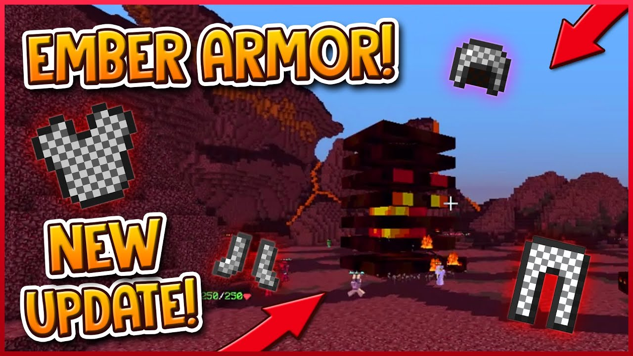 HYPIXEL SKYBLOCK | NEW UPDATE! (EMBER ARMOR, ISLAND VISITS, TP PADS)