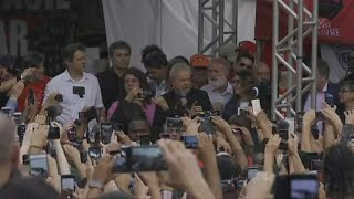 Brazil's Lula addresses supporters after walking free from jail | AFP