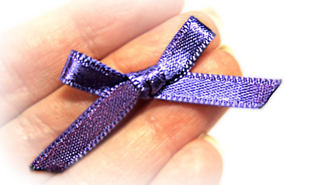 Lazos peque os express small bows youtube - Lazos con cintas ...