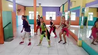 "Senam dangdut ""Dayuni"" by Lia andrea/ at juwita choreo by uki tea, Bekasi"