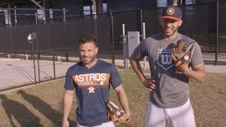 2019 Wilson A2000 Jose Altuve and Carlos Correa Baseball Gloves A2K Houston Astros Glove Video