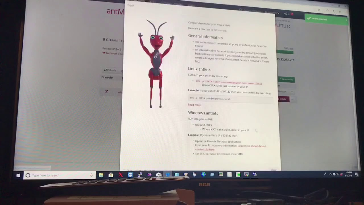 Preview of EdgeLinux with AntMan and mobaXterm client