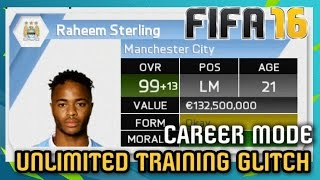 NEW UNLIMITED TRAINING GLITCH - Career Mode FIFA 16