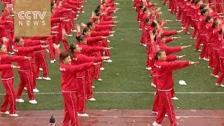 50,000 Chinese dance to a new world record
