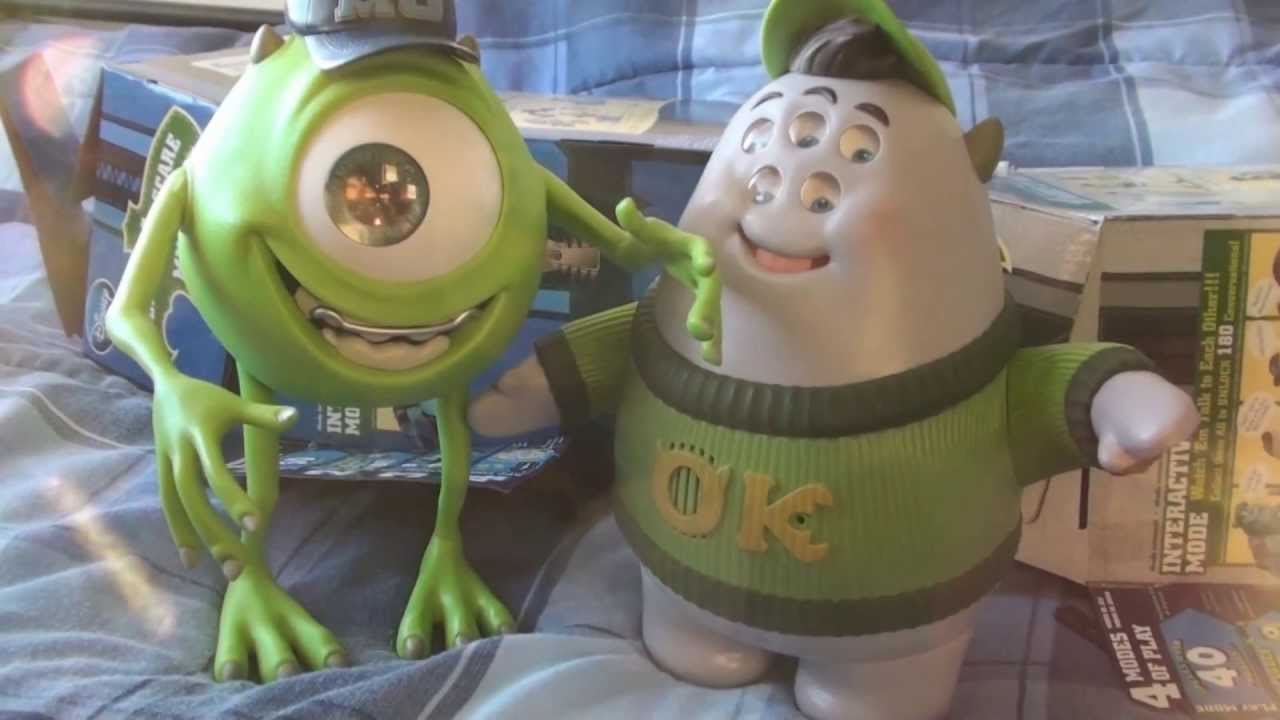 Monsters University Toys Speak N Scare Mike Squishy Talking Action Figure Youtube