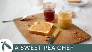 Homemade Peanut Butter -- Honey Roasted Peanut Butter Recipe | A Sweet Pea Chef