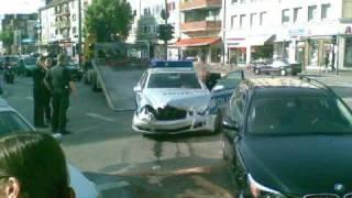 Hamburg Polizei Unfall Police Car Crash Mercedes