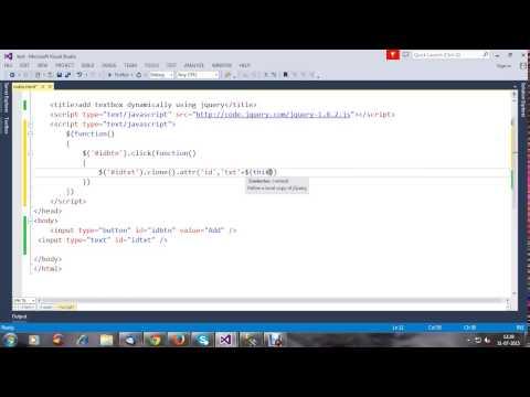add textbox dynamically using jquery