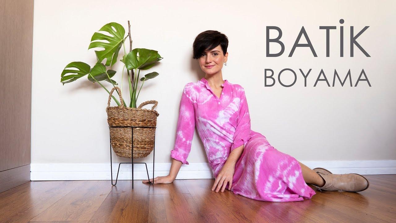 Batik Boyama Tie Dye Lacin Tenel Youtube