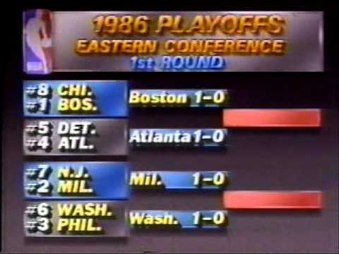 1986 NBA Eastern Conference 1st Round Game 2 Hawks/Pistons Intro