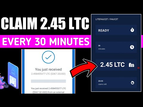 Claim 2.45 LTC Every 30 MINUTES - New High Paying Litecoin \u0026 BTC Earning Website