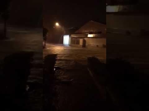 Flood in streets of Managua Nicaragua