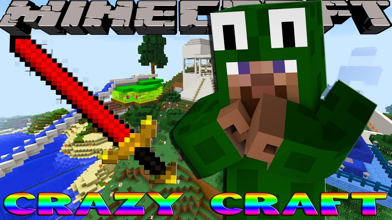 Minecraft CRAZY CRAFT - BUILDING A BIG BERTHA SWORD w ...