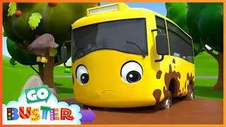 Where's Buster - Stuck In The Mud | Go Buster | Baby Cartoons | Kids Videos | ABCs and 123s