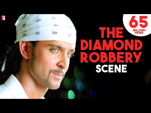 Scene - Dhoom:2 | The Diamond Robbery | Hrithik Roshan
