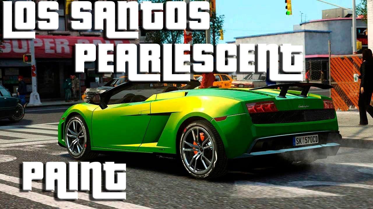 Pearlescent Car Paint >> Grand Theft Auto 5- Los Santos Customs- Metallic Respray ...