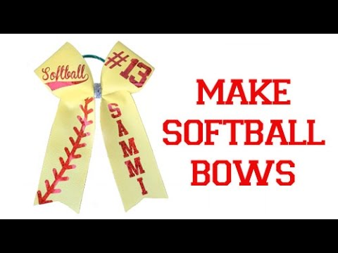 Easy Softball Bow Decal Placement and Folding Template Mat