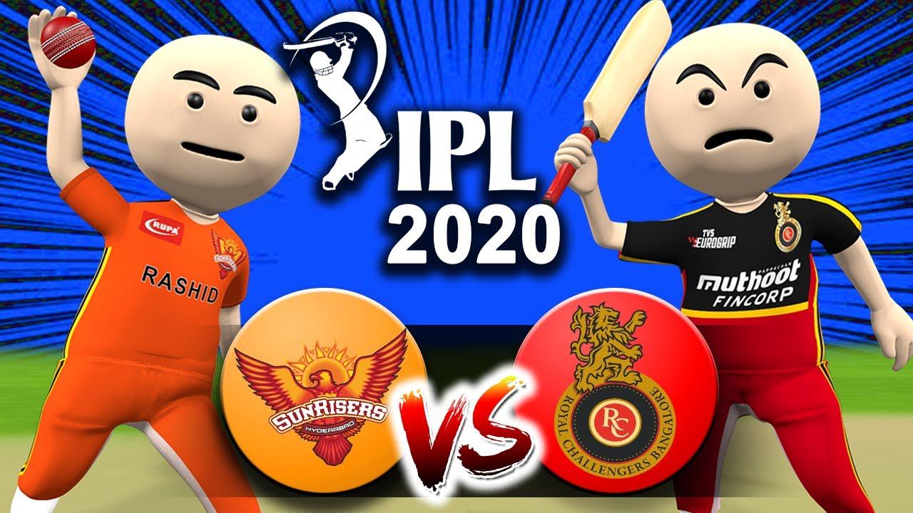 3D ANIM COMEDY - CRICKET IPL 2020 || RCB VS SRH || LAST OVER